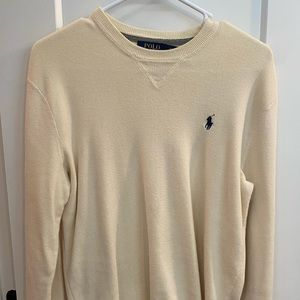 Polo Ralph Lauren Creme Crewneck Sweater Men's!